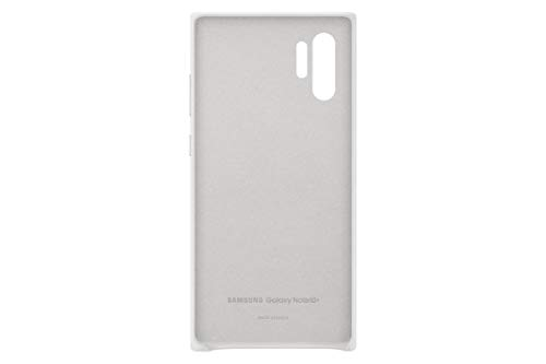 Samsung Galaxy Note10+ Case, Leather Back Protective Cover - White (US Version with Warranty)