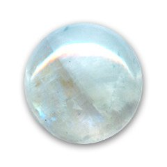 Cabochon tondo mm. 8 Pietra di luna Arcobaleno x1 Inconnu