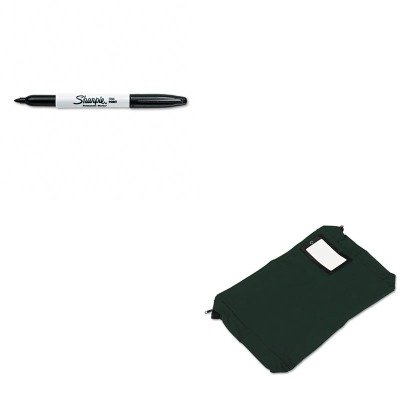 KITPMC04647SAN30001 - Value Kit - Pm Company Expandable Dark Green Transit Sack (PMC04647) and Sharpie Permanent Marker (SAN30001)