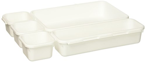 Plastic Interlocking Drawer Organizer Bins