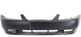 MUSTANG 99-04 FRONT BUMPER COVER, Primed, w/ Fog Lamps Holes, GT Model
