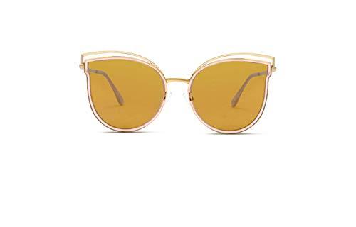 de Tendencia Sol Manera el de Marco Ojo de Gafas Gato Rosa de Pegatina liwenjun Brillante polarizadas Gafas Sol Oro Transparente EawqYCXz