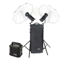 Bowens Gemini 500R/500R Studio Kit (PocketWizard Compatible) with Two 500 watt Second Monolights, Umbrellas, Stands & Carry Bag, Bundle With Small TravePak (Umbrella Kit Gemini)
