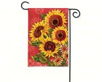 breezeart red barn sunflowers garden
