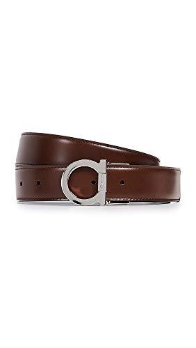 Salvatore Ferragamo Men's Single Gancini Reversible Belt, Brown/Black, 34 from Salvatore Ferragamo
