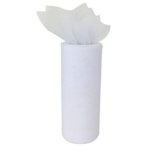 Just Artifacts - Tulle Fabric Roll - 6in width/25yrd Length - White]()