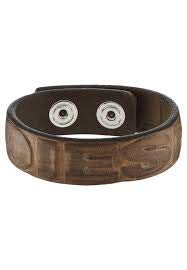 Diesel A-DIESELXX Brown Leather Bracelet, Unisex