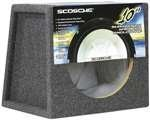 Scosche Se10 10-Inch Sealed Subwoofer Enclosure (10 In Sub With Box)