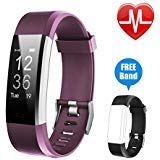 Letsfit Fitness Tracker HR, Activity Tracker Watch with Heart Rate Monitor, IP67 Water Resistant Smart Bracelet with Calorie Counter Pedometer Watch for Android and ()