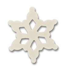 500 Pcs, 3-1/2'' White Snowflake Shape 3-1/2'' Tall X 3-1/2'' Wide X Approx 1/8'' Thick Made From Birch Plywood by SNS