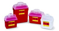 9874989 PT# 305465 Collector Sharps Guardian 6gal Red/ Natural Multiuse 6Gal Made by Becton-Dickinson