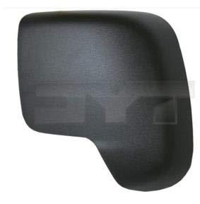 Left Passenger Side Wing Mirror Cover (Black)