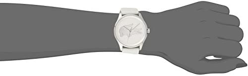 Lacoste Women s Victoria Stainless Steel Quartz Watch with Leather Strap, White, 19 Model 2001001