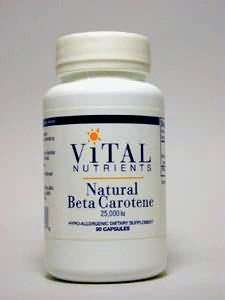 Natural Beta Carotene 25000 IU 90 caps (Vital Nutr.)