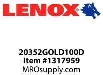 Lenox 20352GOLD100D LENOX EDGE-GOLD100D BIMETAL UTILITY (Pack of 100) by Lenox Tools