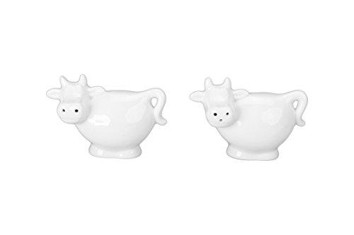 Safe Pepper Dishwasher Porcelain Set Salt And (BIA Cordon Bleu Cow Salt and Pepper Shakers, White)
