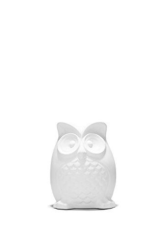 White Owl Figurine Statue Bird Figures Decor Ceramic Owls...