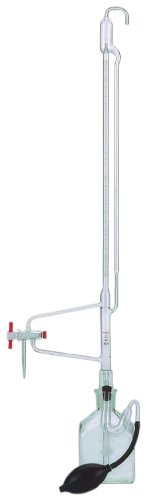 Kimble 17124F-50 50mL Precision Bore Automatic 3-Way PTFE Stopcock Burette, with Reservoir Bottle by Kimble