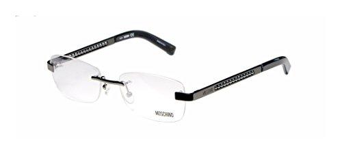 Moschino 05503 MensWomens Rx-able Famous Designer Designer Rimless EyeglassesEyeglass Frame (52-17-130 Shiny Gunmetal)
