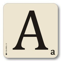 Bluebell Collection Personalised Alphabet Letter Placemats (A)