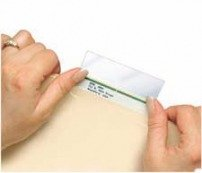 Mylar Label Protector, pack of 100, Clear Mylar, Mylar Protect, Name Label (Tab Protectors)