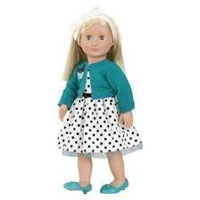 Our Generation 18 Inch Retro Doll - Blonde Ruby Includes Outfit, Shoes, Socks