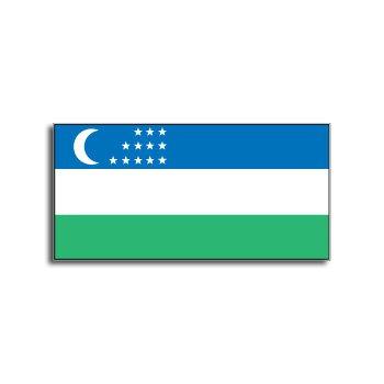 UZBEKISTAN Flag - Window Bumper Laptop Sticker
