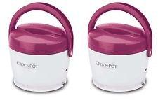 2) Crock-Pot SCCPLC200-PK Portable Lunch Crock Slow Cooker Food Warmers 20-Ounce (Pink Crock Pot Slow Cooker)