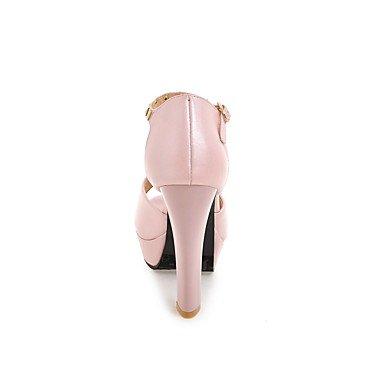 LvYuan Mujer Sandalias Confort Tira en el Tobillo Semicuero Verano Vestido Fiesta y Noche Confort Tira en el Tobillo Remache Tacón Stiletto blushing pink
