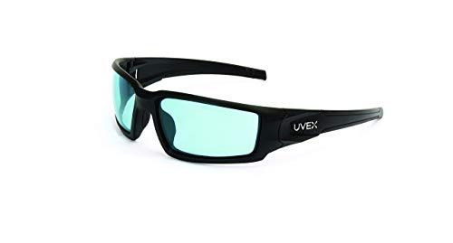 (Uvex by Honeywell Hypershock Safety Glasses, Black Frame with SCT-Blue Lens & Uvextreme Plus Anti-Fog Coating (S2951XP) (Renewed))