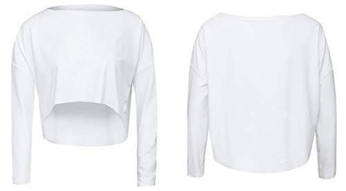 Chemisiers Shirt Col Blouses Tops Tees Hauts Printemps Lache Jumpers Casual T Court Mode Automne Blanc Longues Pulls Femmes Rond JackenLOVE Manches wUvS8q7A