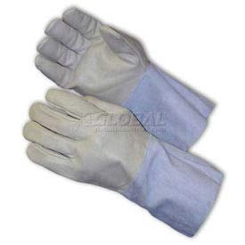 PIP Mig Tig Welder's Gloves, Top Grain Cowhide, 4-1/2''Length, Leather Gauntlet, Size M (75-2026/M)
