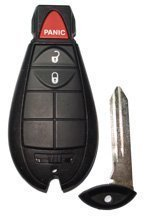 2009 09 Dodge Ram Pickup Truck Remote & Key Combo - 3 Button
