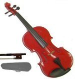 GRACE 13 inch Red Viola with Case and Bow + Free Rosin by Grace