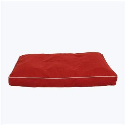 Carolina Pet 012180 Classic Canvas Rectangle Poly Fill Jamison Pet Bed - Barn Red with Khaki Cord44; Medium