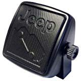 Mopar Officially Licensed Small, Wedge Mount Extension Speaker w/3.5mm Plug. Jeep Wordmark and Image Embossed Screen.