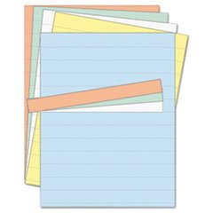 Data Card Replacement Sheet, 8 1/2 X 11 Sheets, Assorted, 10/pk By: MasterVision