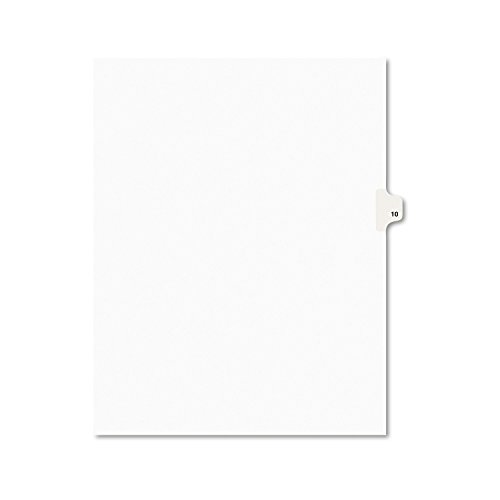 - Avery Individual Legal Exhibit Dividers, Avery Style, 10, Side Tab, 8.5 x 11 Inches, Pack of 25 (11920)