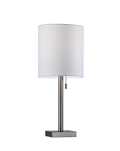 Adesso 1546-22 Liam Table Lamp, Brushed Steel