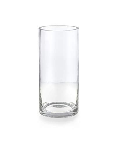 Serene Spaces Living Heavyweight Glass Cylinders for Hurricane Vases - Stylish Design Offers Multiple Use Cases, 6
