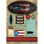 Scrapbook Customs - World Collection - Puerto Rico - Cardstock Stickers - (Puerto Rico Lighthouses)