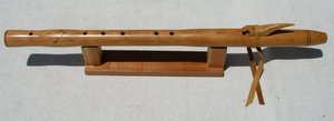 Native American Style Chris Ti Coom Key of E 5-hole Cherry Flute