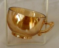 Irridescent Marigold Carnival Glass Punch Snack - Punch Marigold