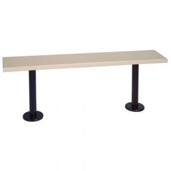 (Penco Products, Penco Plastic Locker Benches, Pco-Bnch-Plas60, W X D: 60 X 9 1/2, Weight (Lbs): 40 Lbs, 6Pl6009-B-Tn+(2) 6Pl1806-P-Bl)