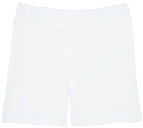 [Lovetti Girls' Basic Solid Soft Dance Short for Gymnastics or Under Skirts 2T White] (All White Party Outfit Ideas)