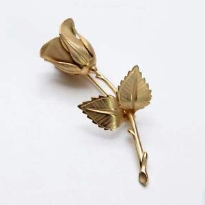 VTG GIOVANNI ROSE BROOCH PIN COSTUME JEWELRY SIGNED