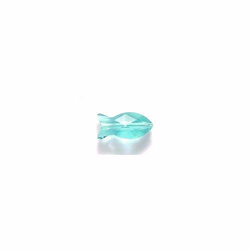 (Swarovski 5727 Fish Beads, Transparent Finish, 14mm, Indicolite, 2- Pack)