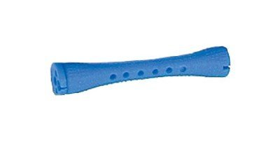 Hair Art Concave Cold Wave Rods Long Blue (Pack of 12)