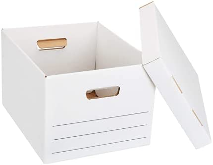 Medium Duty Storage Filing Box with Lift-Off Lid - Pack of 20, Letter / Legal Size
