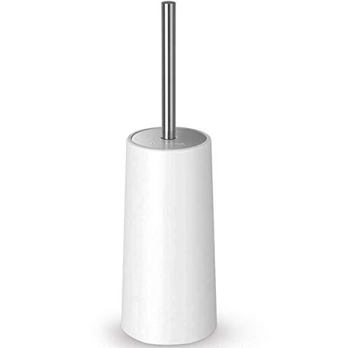 Homemaxs Toilet Brush and Holder【2019 Upgraded】Stainless Steel Longer Handle Enlarged Bottom Toilet Bowl Cleaner Brush Setfor Bathroom Toilet (Kids Toilet Bowl Brush)